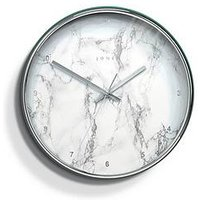 Product photograph showing Jones Clocks Penny Marble Wall Clock
