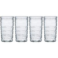 Product photograph showing Ravenhead Essentials Wave Se Of 4 4 Hiball Glasses
