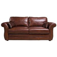 Product photograph showing Vantage Italian Leather 3 Seater Sofa
