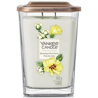 Product photograph showing Yankee Candle Elevation Collection - Blooming Cotton Flower