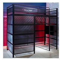 Product photograph showing X Rocker Battle Den - Gaming High Sleeper Bed