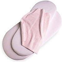 Product photograph showing Clair De Lune 3 Piece Pram Crib Bale - Pink