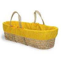 Product photograph showing Clair De Lune Colour Pop Sunshine Palm Moses Basket