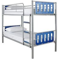 Product photograph showing Cyber Bunk Bed Frame - Bunk Bed Frame With 2 Standard Mattresses