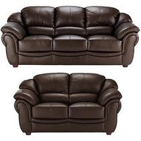Product photograph showing Napoli 3-seater Plus 2-seater Leather Sofa Set Buy And Save