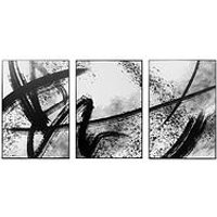 Product photograph showing Arthouse Set Of 3 Abstract Mono Canvases With Black Edging