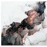 Product photograph showing Arthouse Agate Marble Gloss Canvas With Rose Gold Foil Detail