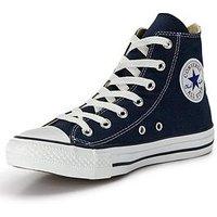 Converse Chuck Taylor All Star Hi Tops, Navy, Size 12, Women