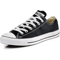 Converse Chuck Taylor All Star Ox Plimsolls - Black, Black, Size 4, Women