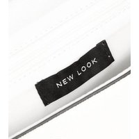 White Push Lock Clutch New Look