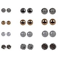 12 Pack Multicoloured Stud Earrings New Look