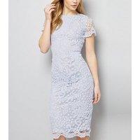 AX Paris Pale Blue Crochet Lace Midi Dress New Look