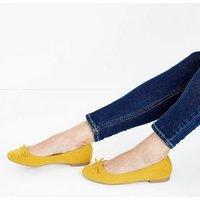 Wide Fit Mustard Suedette Ballet Pumps New Look