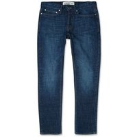 Blue Stone Washed Straight Leg Jeans New Look