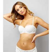White Lace Strapless Bra New Look