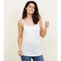 Maternity White Nursing Cami New Look