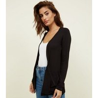Black Double Pocket Cardigan New Look