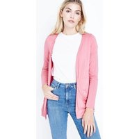 Coral Double Pocket Cardigan New Look