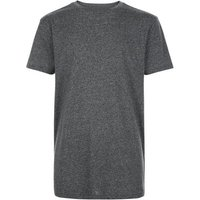 Grey Marl Longline T-Shirt New Look