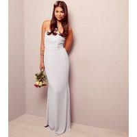 Lilac Bardot Maxi Bridesmaid Dress New Look