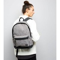 Grey Chambray Backpack New Look