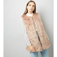 Pink Faux Fur Gilet New Look
