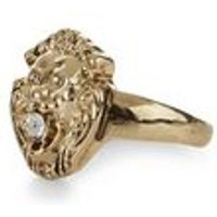 Gold Lion Head Ring New Look