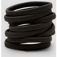9 Pack Black Plain Hairbands New Look