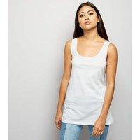 Petite White Scoop Neck Vest New Look