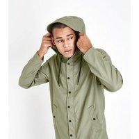 Khaki Rain Coat New Look