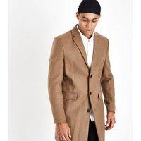 Camel Smart Overcoat New Look