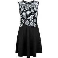 MelaMela Black Floral Lace Contrast Dress New Look