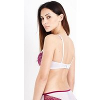 Lilac 2 Tone Lace Non Padded Bra New Look