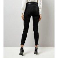 Black Ripped Skinny Jenna Jeans New Look