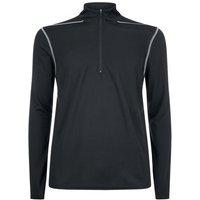 Black Mesh Long Sleeve Sports Top New Look