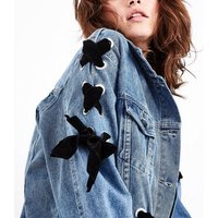 Blue Vanilla Blue Lace Up Denim Jacket New Look