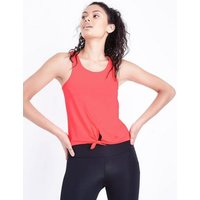 Coral Tie Front Sports Vest New Look