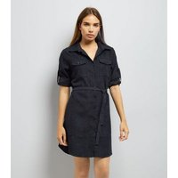 Mela Navy Shirt Dress New Look