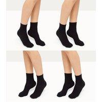 4 Pack Black Socks New Look