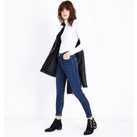 Dark Blue Rinse Wash High Rise Skinny Jeans New Look