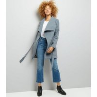Parisian Grey Wrap Jacket New Look