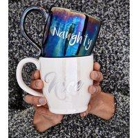 2 Pack Naughty And Nice Mug Set New Look