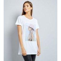 White Lady Gaga Photo T-Shirt New Look