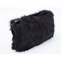 Black Faux Fur Cross Body Bag New Look