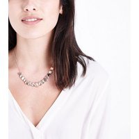 Rose Gold Teardrop Circle Necklace New Look