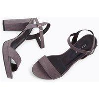 Grey Suedette Block Heel Platform Sandals New Look