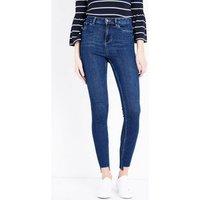 Blue High Rise Step Hem Skinny Dahlia Jeans New Look