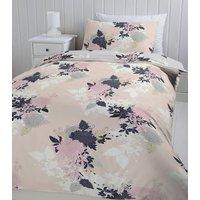 Pink Floral Printed Single Duvet Set New Look