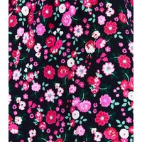 Black Floral Ditsy Print  Bikini Bottoms New Look