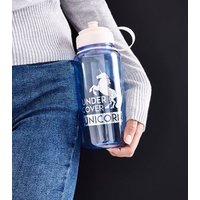Blue Under Cover Unicorn Large Water Bottle New Look